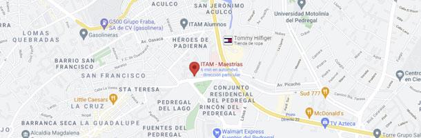 Mapa como llegar al ITAM